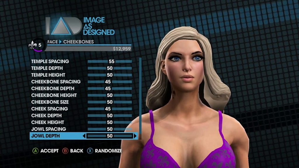 Saints Row Character Customisation