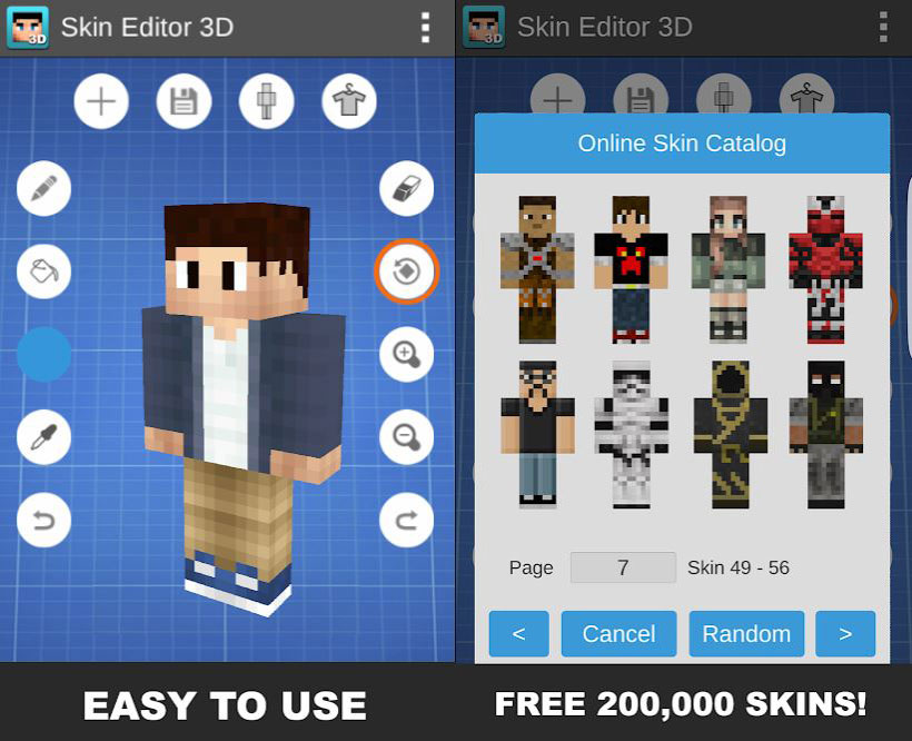 Skincraft Minecraft Character Creator