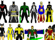 Superhero maker game